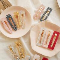 Acrylic Hair Clips Snap Hairpins Barrettes Women Hair Accessories Headwear