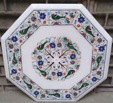 SIZE 2'X2' WHITE MARBLE DINING COFFEE CORNER CENTRE TABLE TOP WORK MOSAIC