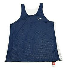 Vintage Nike Tank Top Jersey Size Large L Blue White Reversible Athleisure Gym