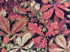 'Fall Spectacular' on Black Cotton Sewing Quilting Fabric  - 1/2 Yard