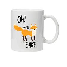 Fox (F**k) Sake Mug/Cup - Funny Rude Silly Birthday Present/Gift