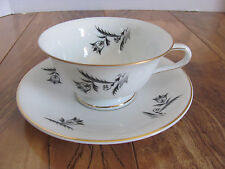 Rosenthal Selb Bavaria-Scattered Gray/Black Tulips-Cup & Saucer(s)-Up to 12 Aval