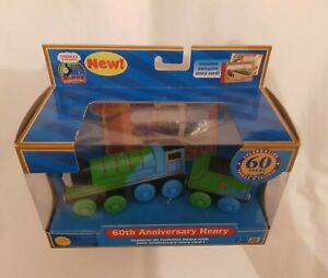 Thomas Tank & Friends WOODEN 60TH ANNIVERSARY HENRY TRAIN WOOD NEW VERY RARE