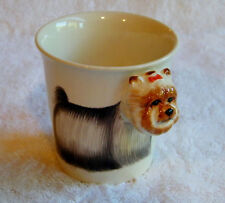 "Yorkshire Terrier ""Yorkie"" 3D Head Collectible Drink Cup Mug Handpainted NWOT"
