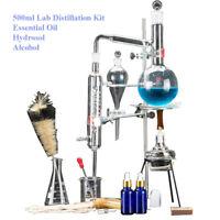 500ml Labor Destillation ätherisches Öle Destille Wasser Gerät Glaswaren Satz
