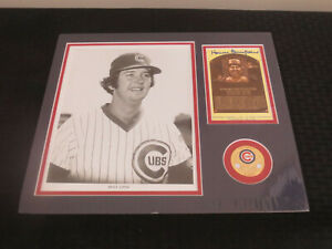 Howard Bruce Sutter Cubs Autograph Framed and matted 12 x14 with yellow HOF Card