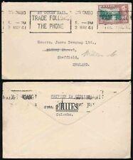 Colony Cover Ceylon Stamps