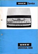 Service Manual-Anleitung für Uher Universal 5000