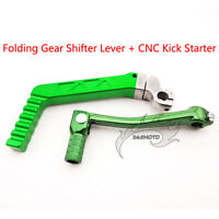 Green Kick Starter Start Lever Gear Shifter For XR CRF50 SSR YCF Pit Dirt Bike