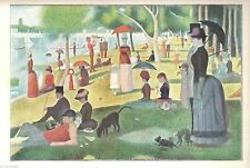 Sunday Afternoon Island La Grande Jatte Seurat Art Print  1960 Free Shipping