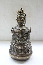 Vintage Brass Handcrafted Carved Figure Bell NH3813