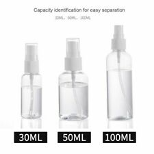 Transparent Spray Bottles Sanitizer Alcohol Dispenser Empty Refillable Bottle