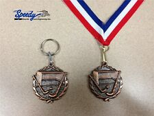 "Field Hockey Bronze 1.75"" Medal With Ribbon Or Keyring Free Engraving"