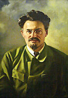 Leon Trotsky Trotskyism Russian Revolutionary Hand Painted Portrait Oil Painting