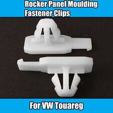 10x Clips For VW Touareg Rocker Panel Moulding Fastener White Plastic Clips T79