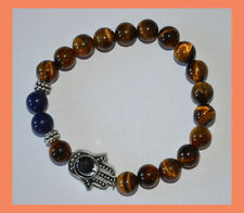 Tiger Eye Lapis Lazuli  Energy Healing Protection Spiritual Gemstone Bracelet