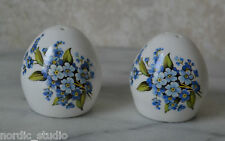 Sandford Egg Shaped FORGET ME NOT Pattern Salt and Pepper Shakers
