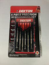 Dekton 6 Piece Mini Precision Screwdriver Set - model maker Glasses Phone Repair