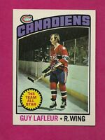 1976-77 TOPPS # 163 CANADIENS GUY LAFLEUR  ALL STAR NRMT-MT CARD (INV#4964)