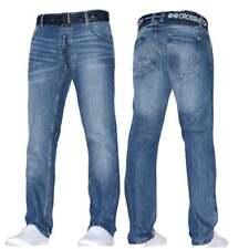 Mens Crosshatch Straight Leg Dark Blue Jeans All Waist Sizes Jeanbase Nw1 Stone Wash Techno 46w 30l
