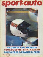 SPORT AUTO n°95 12/1969  GP MEXIQUE TOUR de FRANCE ABARTH SCORAVEC ENCART