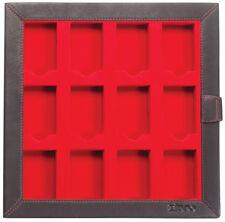 Zippo concentre estuche display vacía de cuero moca para 12 encendedores 2005422