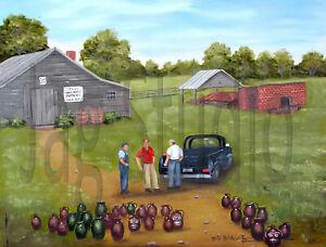 Burlon Craig Folk Art 8 x 10 Print Red Shirt Pottery Kiln Americana Arie Taylor