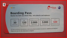 AIRBERLIN Boarding Pass als Flyer für topbonus-Programm / airline airways
