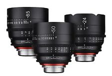Rokinon XEEN 3 Lens Set Cine Lens Bundle for Sony E-Mount - 24mm + 50mm + 85mm