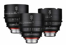 Rokinon XEEN 3 Lens Set Cine Lens Bundle for PL Mount - 24mm + 50mm + 85mm