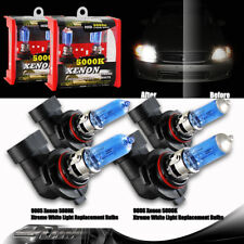 4pcs 9005/HB3 100W & 9006/HB4 55W Supper White Xenon Halogen Bulbs Universal 3