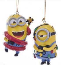 Despicable Me PHIL and MEL Minions ORNAMENTS Christmas (set of 2) Kurt Adler