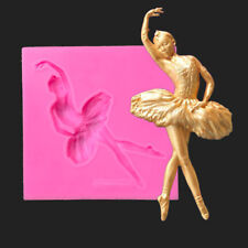 3D Dancing Girl Silicone Model Tool Fondant Cake Mold DIY Chocolate Candle Mould