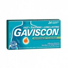 GAVISCON CHEWABLE TABLETS PEPPERMINT FLAVOUR - 24 CHEWABLE TABLETS