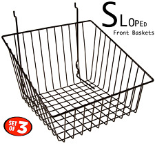 Only Hangers Black Tapered Slatwall/Gridwall Basket 12 x 12 x 8 - 3pcs