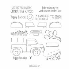 """Stampin' Up! """"Ride With Me"""" Photopolymer Stamp Set (Retired) - NEW"""