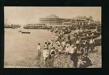 Hampshire SOUTHSEA Clarence Pier busy beach scene c1900/10s? PPC