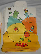 Haba 5 Medium Gift Bags Retail Sales Merchandise Paper Holiday Birthday 14x9x4