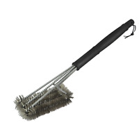 Char-Griller TRIPLE GRID BBQ GRILL BRUSH CGTGRIDB Stainless Steel Bristles