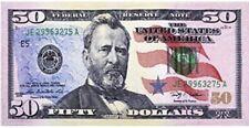 "30"" x 60"" $50 Dollar Bill Velour Beach Towel"