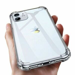CLEAR CASE For iPhone 12 11 Pro Max Mini XS XR X Protector Silicone Phone Cover