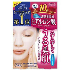 ☀ Kose Cosmeport Face Mask 5 Sheets ClearTurn Hyaluronic Acid Moisturising Jpn ☀