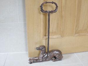 Door Stop Handle Metal Shabby Cast Iron Heavy Whipet Dog Ornament Doorstop NEW