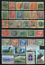 Iceland Lot  of Old  Stamps stamps. Used.