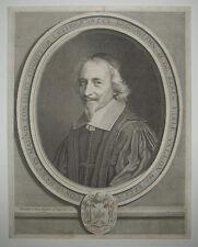 17ème Portrait de CLAUDE REGNAULDIN Gravé par NANTEUIL en 1661 Coll. DESTAILLEUR
