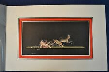 Vintage SCOGNAMIGLIO PAINTING Watercolor Pompeii Italian Listed Artist