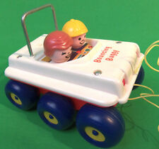 Fisher Price Bouncing Buggy Pull Toy With String 122 Little People Vintage 1973