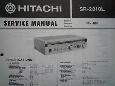 HITACHI SR-2010L Tuner Amplifier Receiver Service manual wiring parts diagram