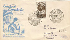 FDC - SPD Guinea Edifil # 294 Rare Santa Isabel to Bilbao 1949