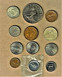 """World Animal 12 coin lot """"Mammals collection"""" w/ Barbary Ape & more w/ silver"""